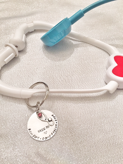 Stethoscope ID Tag - Hand to Heart Jewelry