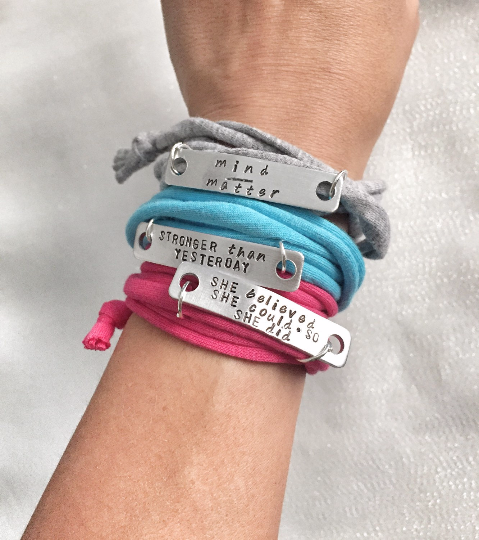Fitspo Bracelets - Inspirational Workout-friendly Bracelets - Hand to Heart Jewelry