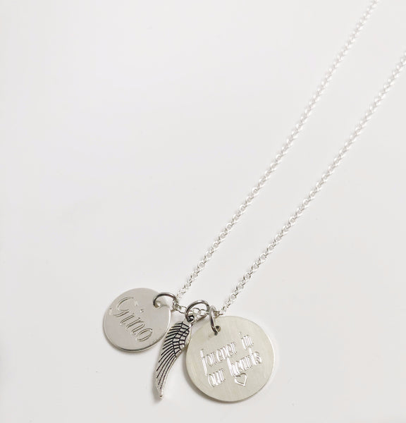 Memorial Necklace - Hand to Heart Jewelry