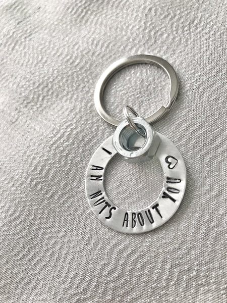 Nuts About You Keychain - Hand to Heart Jewelry