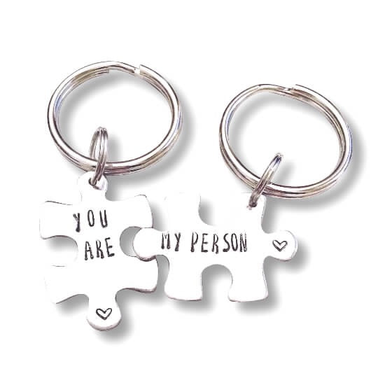 Puzzle Keychain - You're my Person - Hand to Heart Jewelry