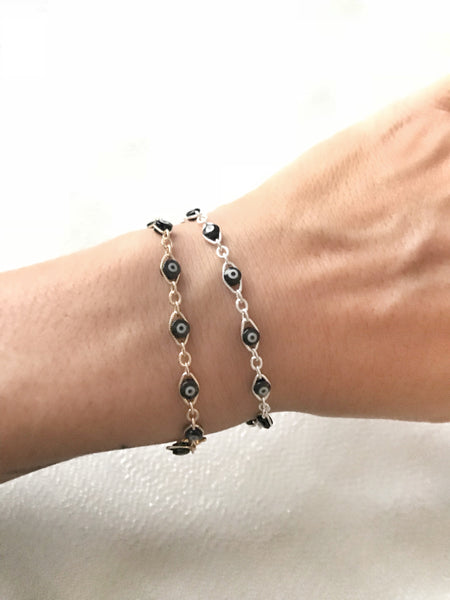 Evil Eye Link Bracelet - Hand to Heart Jewelry