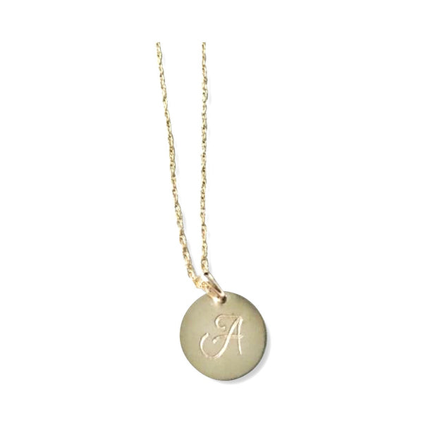 Add on a 14K yellow gold filled disk - Hand to Heart Jewelry