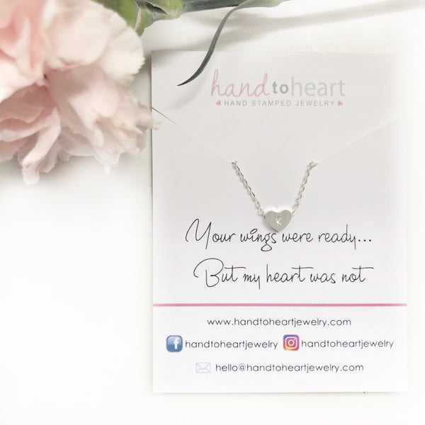 Memorial Heart Necklace - Hand to Heart Jewelry