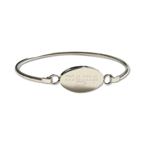 Oval Personalized Bangle - Hand to Heart Jewelry