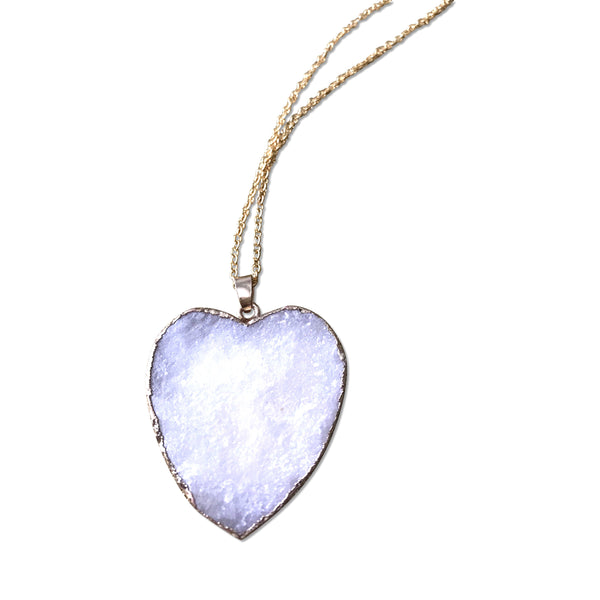 Stone Heart Necklace - Hand to Heart Jewelry