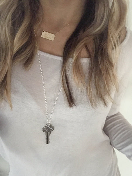 Key to my Heart Necklace - Hand to Heart Jewelry