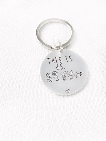 This is Us  - Family Keychain - Hand to Heart Jewelry