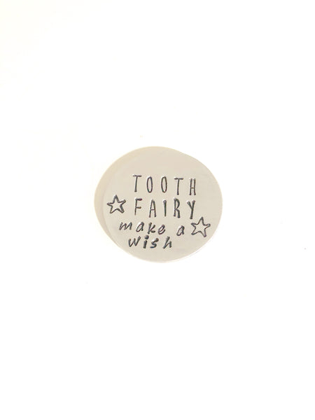 Tooth Fairy Wishing Coin - Tooth Fairy Visit - First Tooth Keepsake - Hand to Heart Jewelry