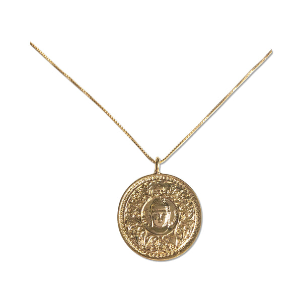 Buddha Coin Necklace - Hand to Heart Jewelry