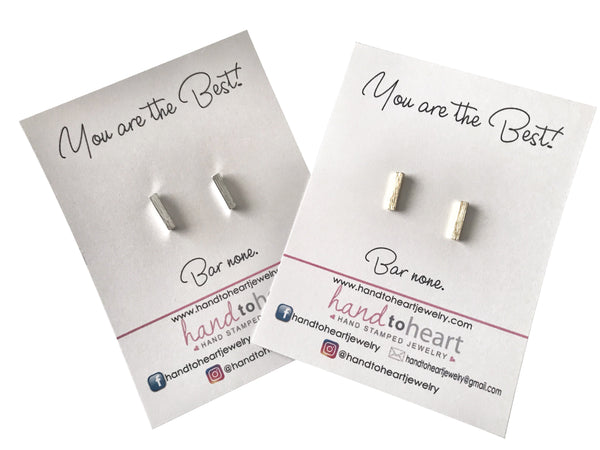 Bar None Earrings - Hand to Heart Jewelry