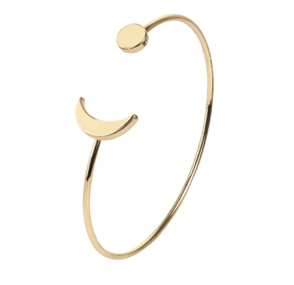 Moon & Star Bangle - Hand to Heart Jewelry