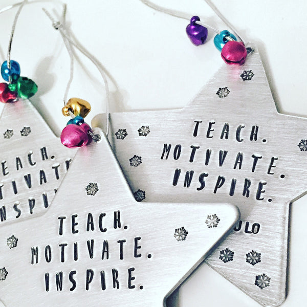 Teacher Ornament - Hand to Heart Jewelry
