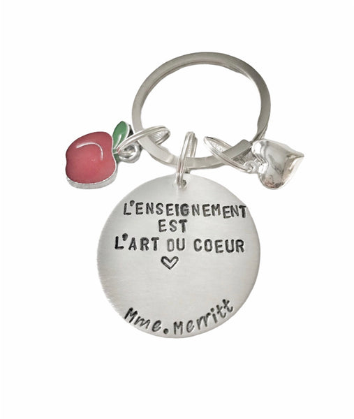 French Teacher Keychain