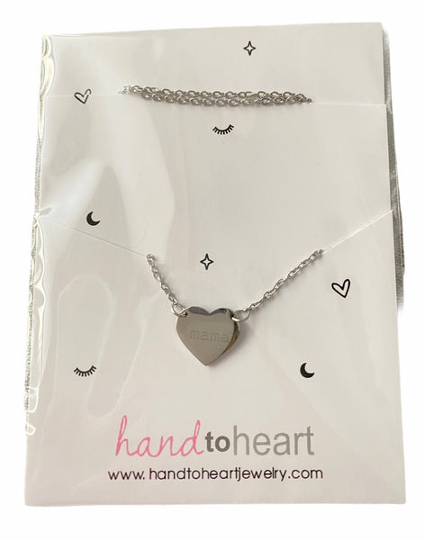Mama heart stainless steel necklace