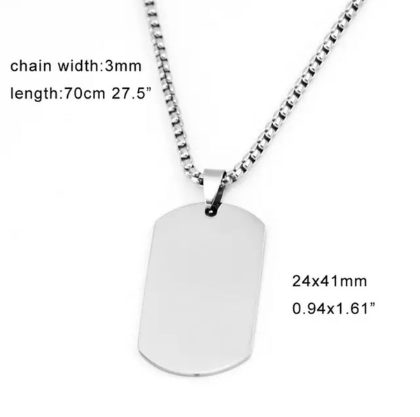 Steel Dogtag Necklace