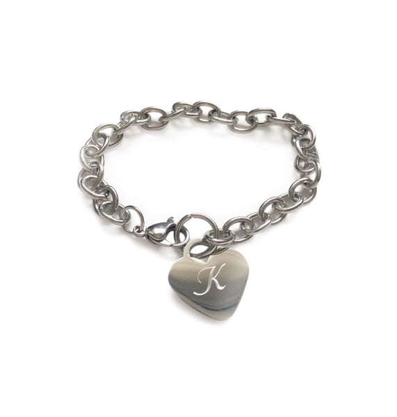 Heart Charm Bracelet - Hand to Heart Jewelry