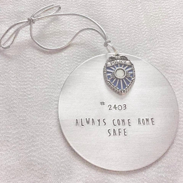 Police Officer Ornament - Hand to Heart Jewelry