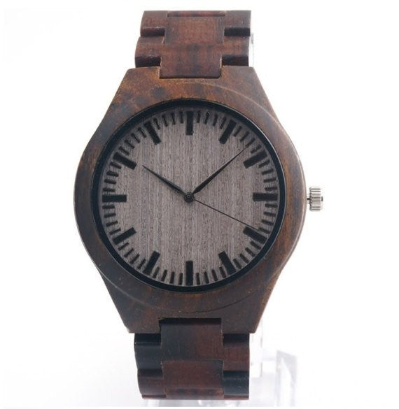 Engraved Wooden Watch - A Closer Look
