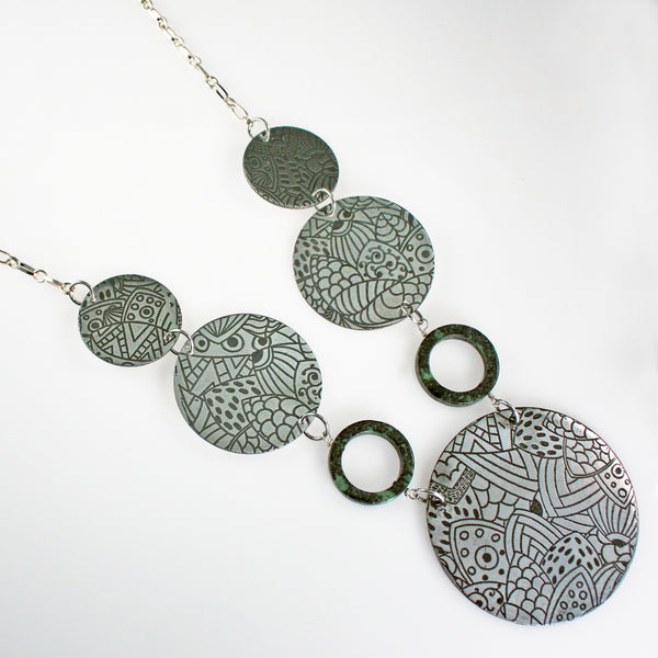 Art Deco Abstract Coin Necklace