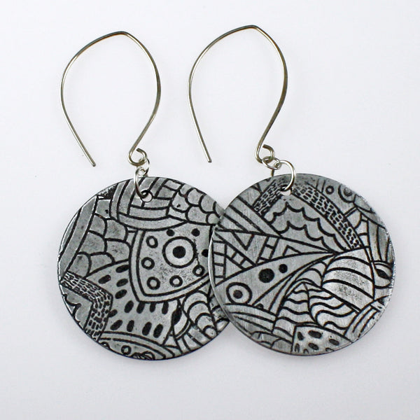 Art Deco Coin Earrings