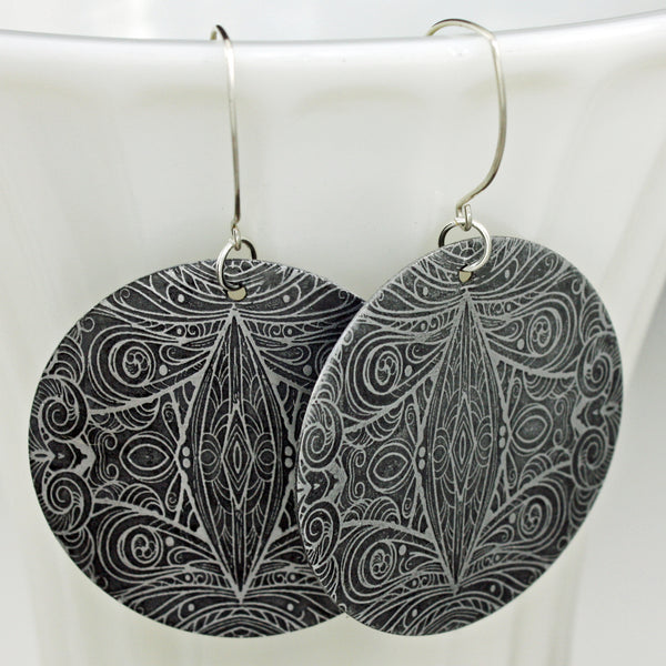 Filigree Etched Earrings