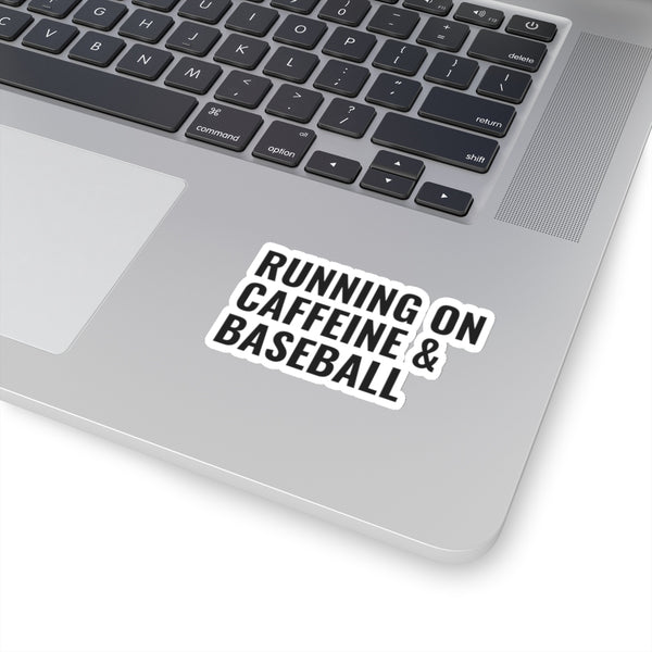 Running on Caffeine & Baseball Sticker