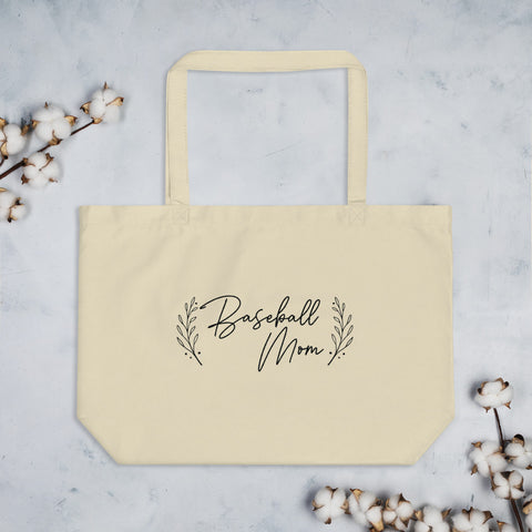 Baseball Mom | Large Tote Bag