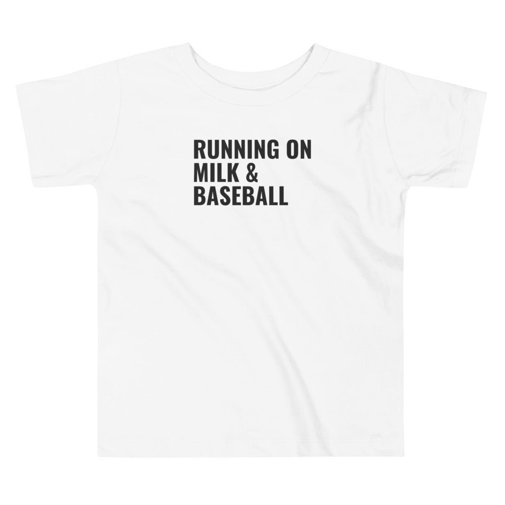 Running on Milk & Baseball | Toddler Tee