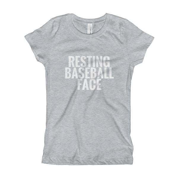 Resting Baseball Face | Girls Tee