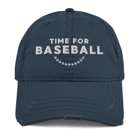 Time for Baseball | Distressed Hat