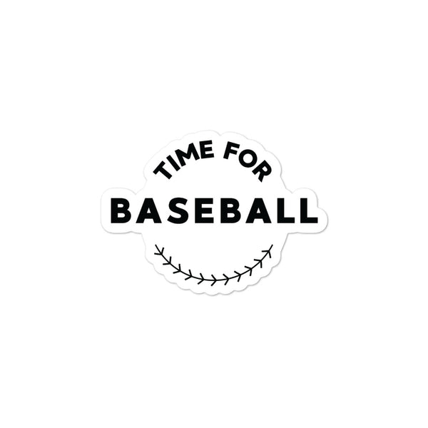 Time for Baseball Sticker