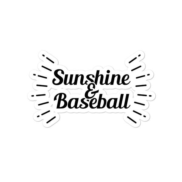 Sunshine and Baseball Sticker