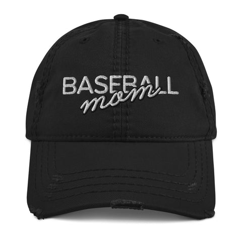 Baseball Mom | Distressed Hat