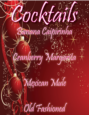 Holiday Cocktail Menu