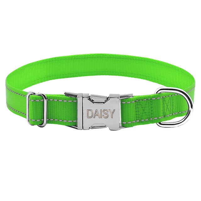 Engraved Nylon Collar
