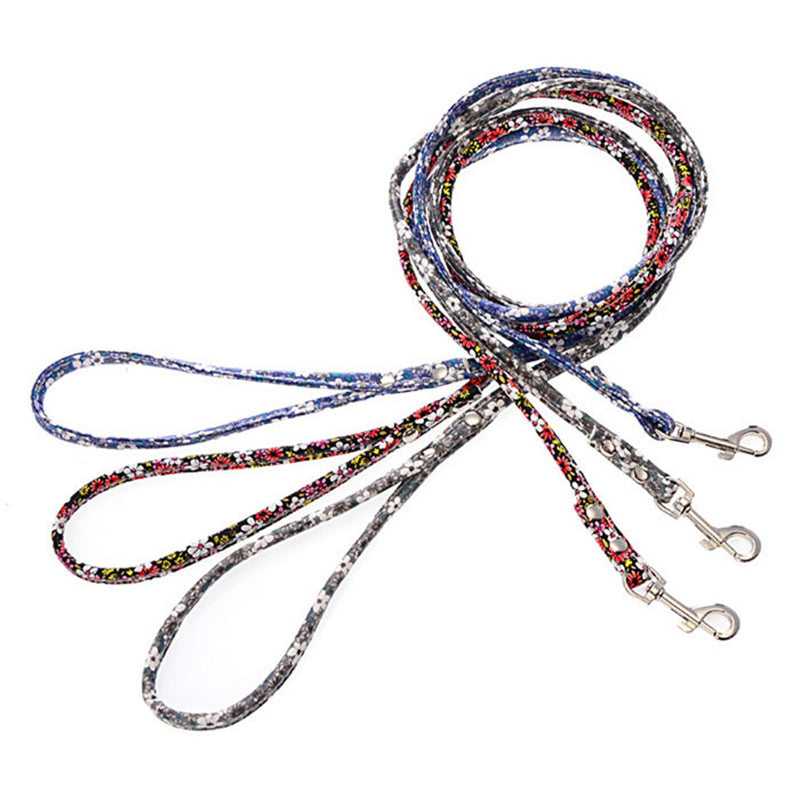 Thin Floral Dog Leash