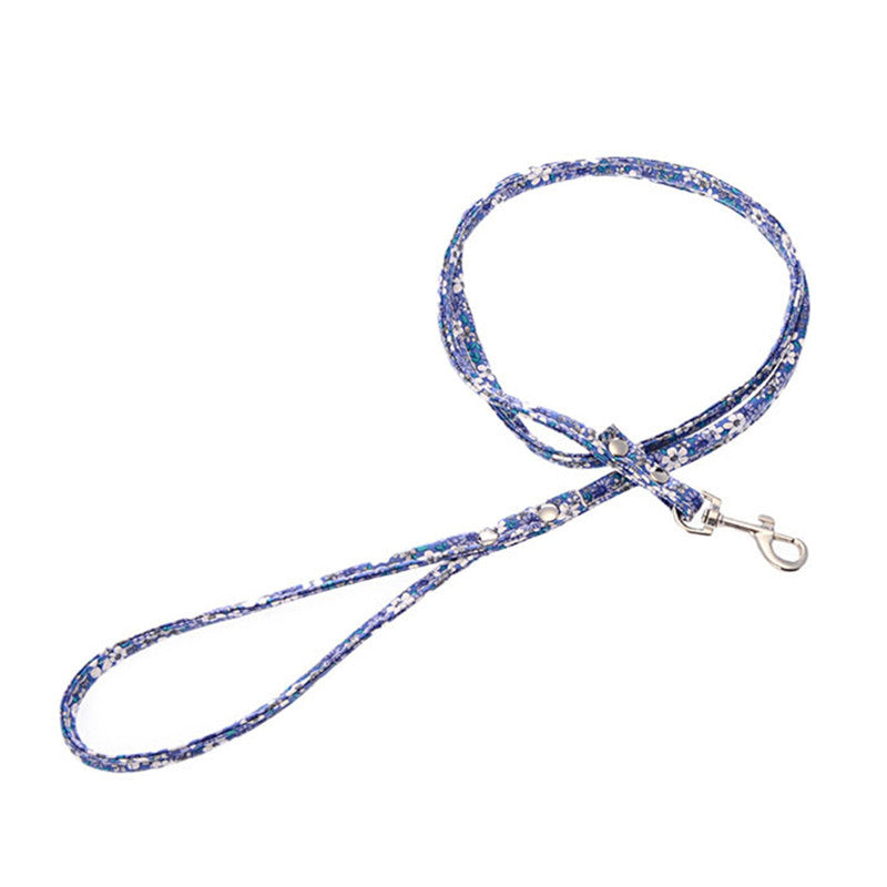 Thin Floral Dog Leash - Canine Love Co.