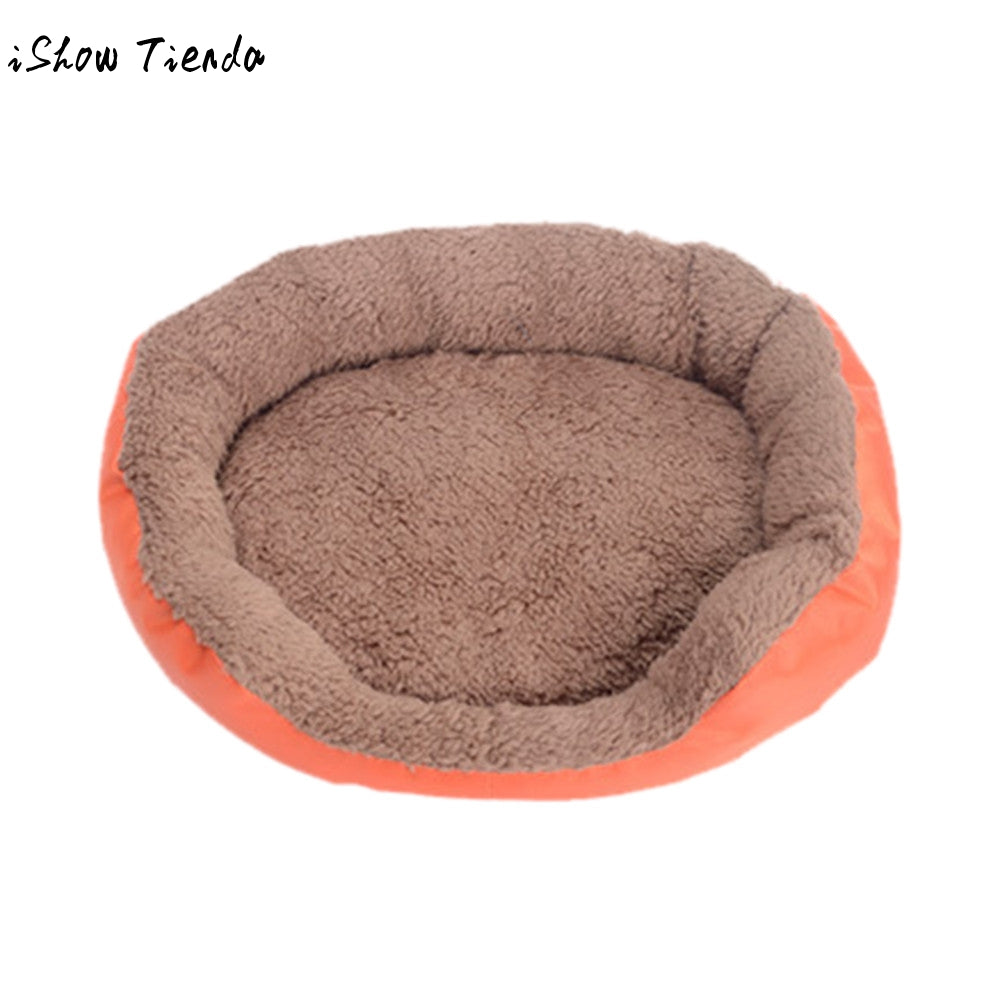 Round Mocha Fleece Bed (5 colors) - Canine Love Co.