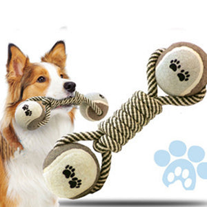 Dual Ball Rope Toy - Canine Love Co.