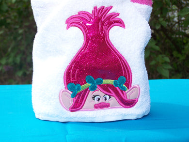 Character Inspired Hooded Towel - Princess Troll