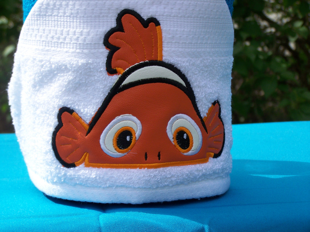 Character Inspired Hooded Towel - Clown Fish