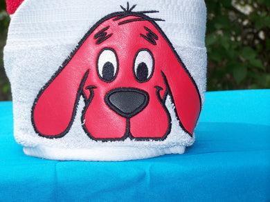 Character Inspired Hooded Towel - Red Dog