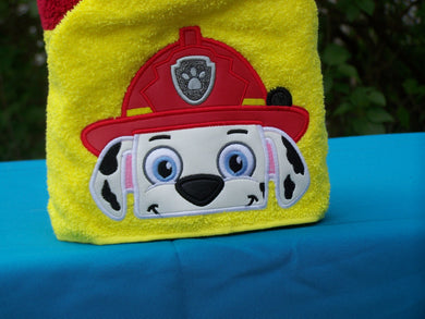 Character Inspired Hooded Towel - Fire Pup