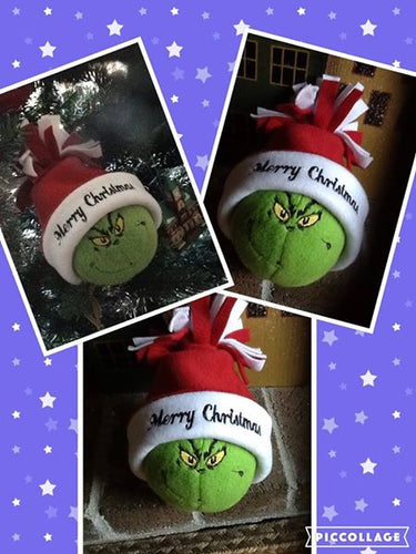 Grinch Snowball with Personalized Hat