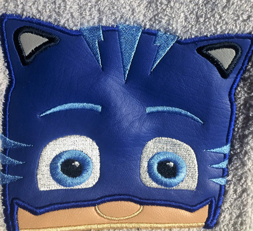 Character Inspired Hooded Towel - Bedtime Cat Hero
