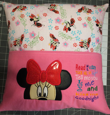 Girl Mouse Pocket Pillow