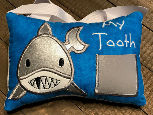 Shark Tooth Fairy Pillow
