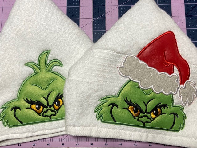 Grinch Hooded Towel