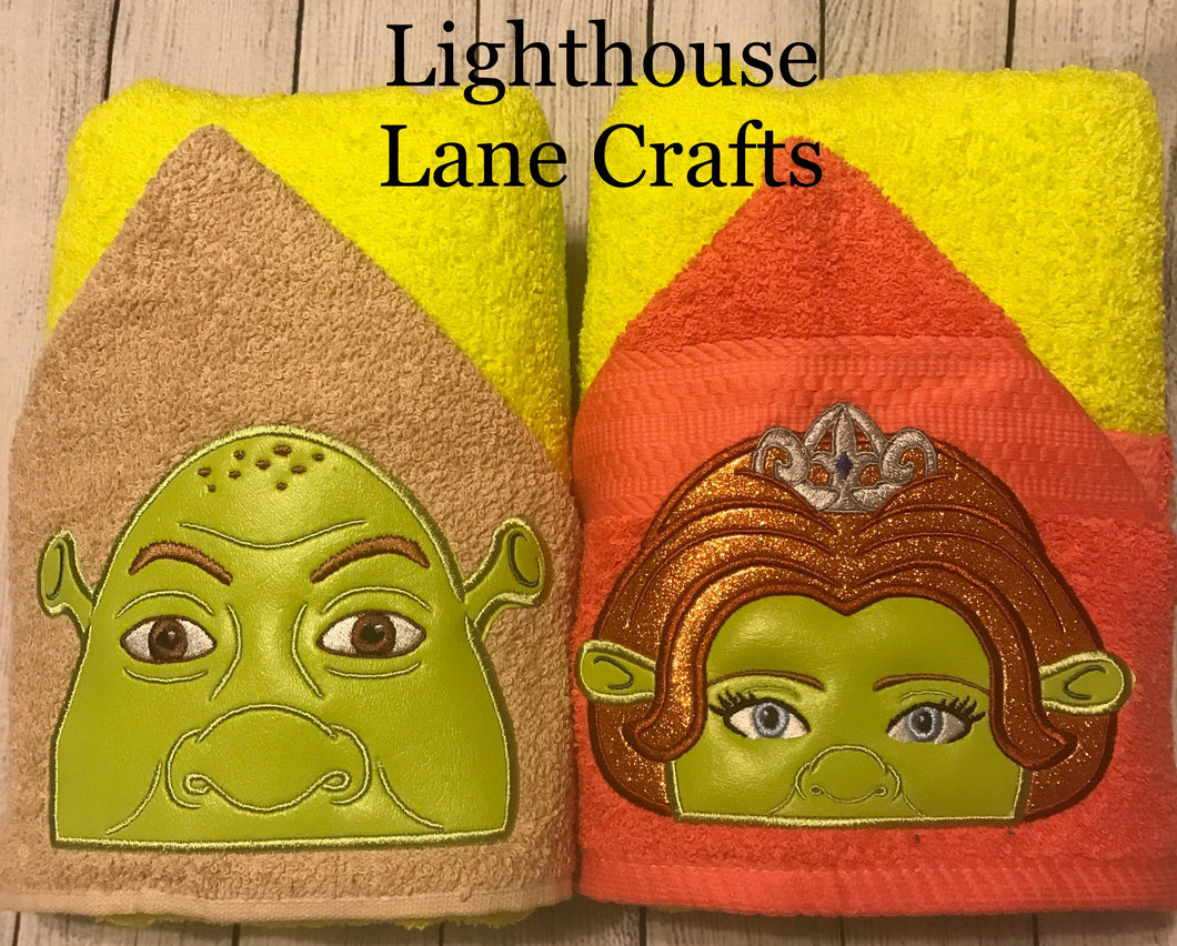 Green Ogre / Princess Ogre Hooded Towel